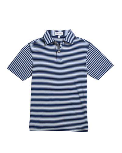 Boy's Comp Stripe Stretch Jersey Polo Shirt, Size XS-XL