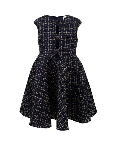 Chenille Cap Sleeve Dress, Size 4-8