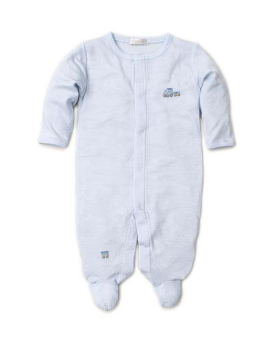 Premier Choo Choo Striped & Embroidery Footie Playsuit, Size Newborn-9 Months