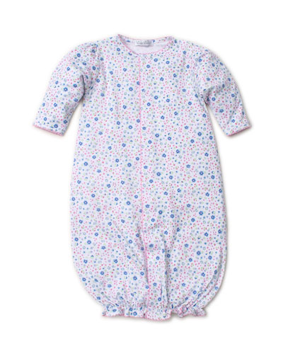 Garden Treasure Printed Convertible Sleep Gown, Size Newborn-Small