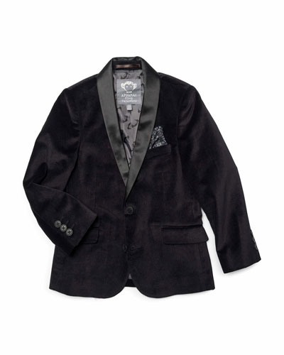 Boy's Shawl Collar Blazer, Size 2-10