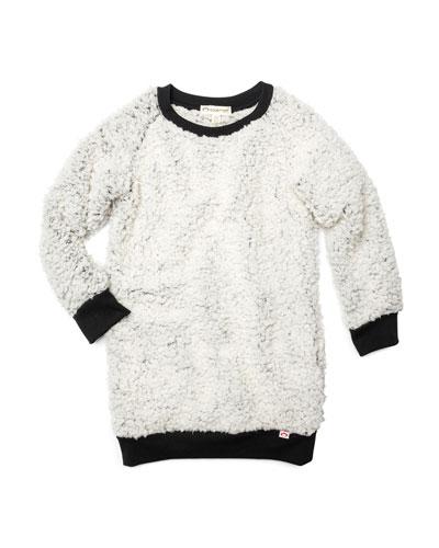 Avina Plush Fleece Long-Sleeve Dress, Size 2-14