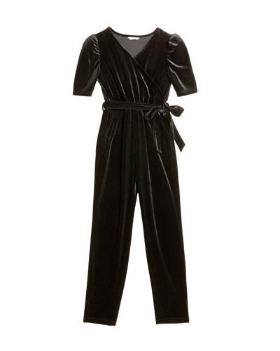 Briella Velour Wrap Jumpsuit, Size 7-14