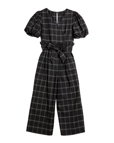 Charlie Plaid Wrap Jumpsuit, Size 7-14