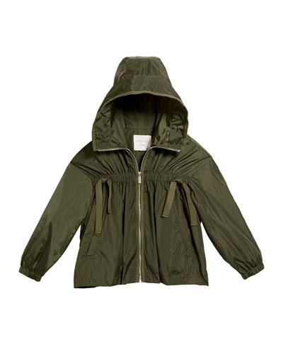 Rayne Lightweight Nylon Hooded Jacket, Size 7-14