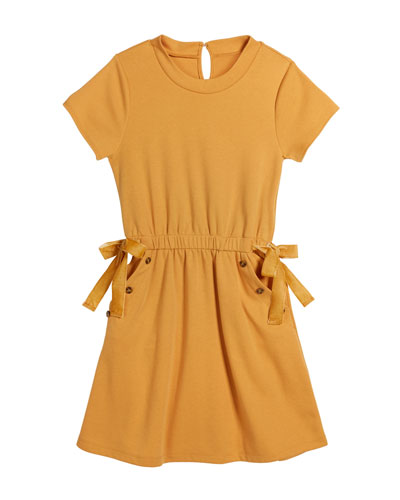 Elle Ponte Button Trimmed Dress, Size 7-14