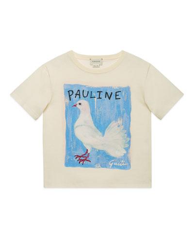 Pauline Dove & Rudy Guinea Pig Jersey Tee, Size 4-12