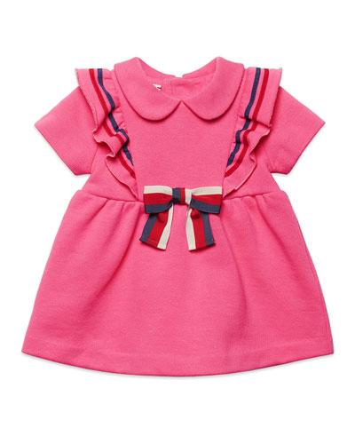 Girls' Peter Pan-Collar Ruffled Dress, Size 6-36 Months
