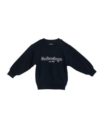 Kid's Logo Embroidered Sweatshirt, Size 2-10