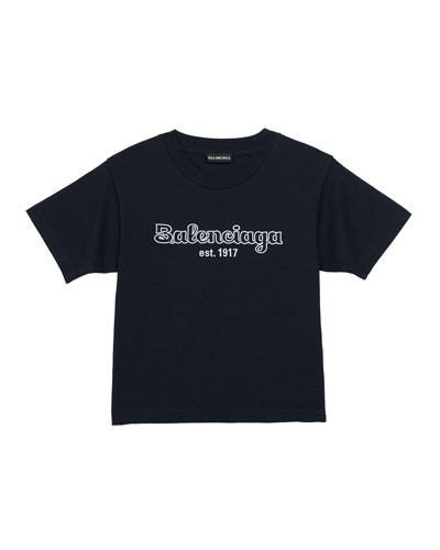 Kid's Bubble Script Logo Short-Sleeve T-Shirt, Size 2-10