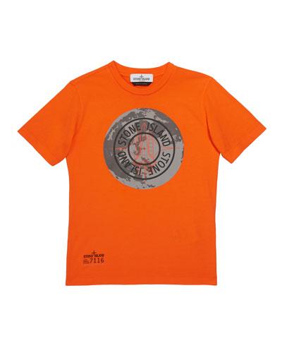 Boys' Moonlanding Screen-Print Logo T-Shirt, Size 12