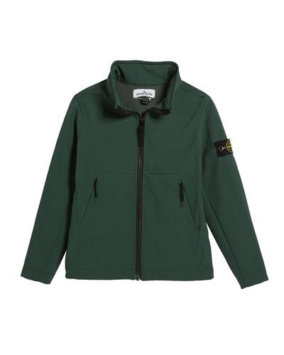 Lightweight Techno Stand Collar Jacket, Size 14