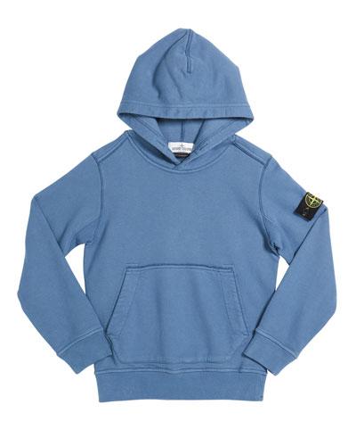 Boy's Cotton Logo Hoodie, Size 2-6