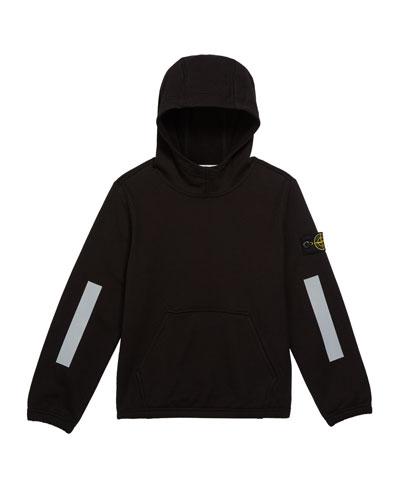 Boys' Hooded Sweatshirt w/ Kangaroo Pocket & Reflective Tape, Size 8-10
