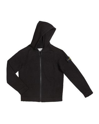 Boy's Knit Zip-Up Hoodie, Size 8-10