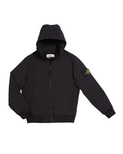 Lightweight Techno Hooded Jacket, Size 12