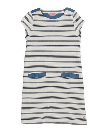 Grace Striped Cap Sleeve Dress, Size 3-12