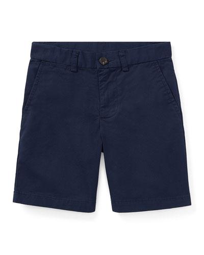 Flat Front Chino Shorts, Size 2-3