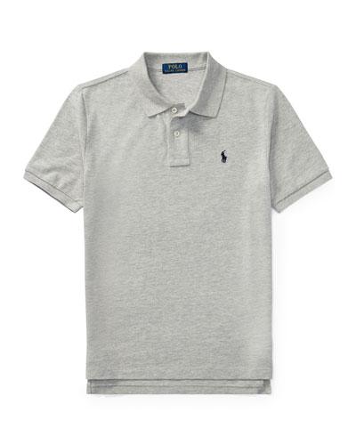 Short-Sleeve Logo Embroidery Polo Shirt, Size S-XL