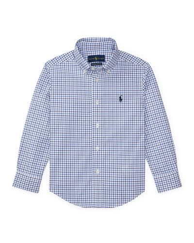Poplin Woven Tattersall Sport Shirt, Size 2-3
