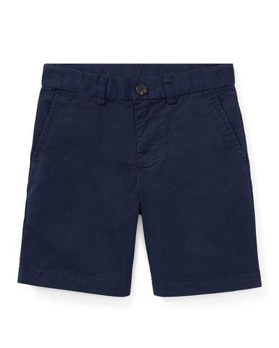 Flat Front Chino Shorts, Size 4-7