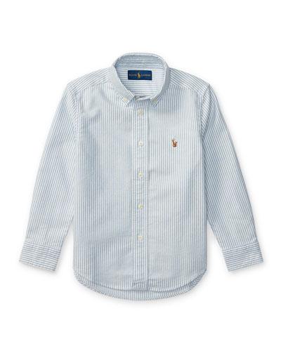 Cotton Oxford Stripe Sport Shirt, Size 2-3