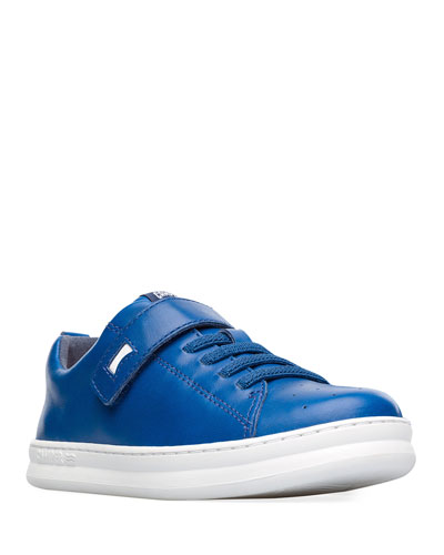 Kid's Leather Grip-Strap Sneakers, Toddler/Kids