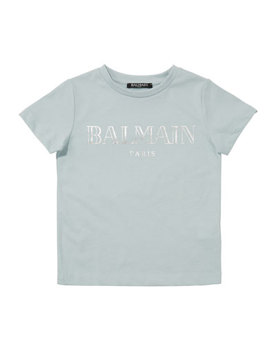 Kid's Short-Sleeve Logo Tee, Size 10-16
