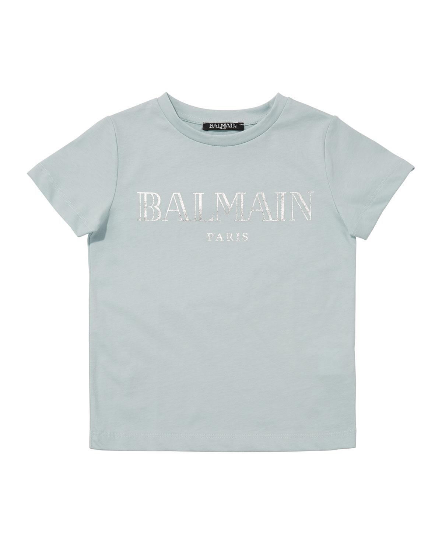 Balmain KID'S SHORT-SLEEVE LOGO TEE