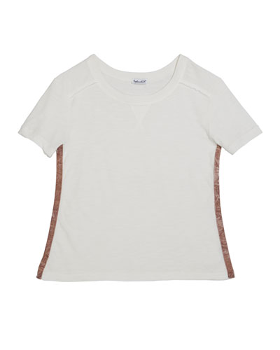 Cotton Slub Short-Sleeve Tee, Size 7-14