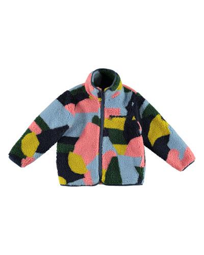 Girl's Plush Colorblock Jacket, Size 4-14