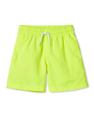 Boys' Neon Swim Trunks, 12M-10