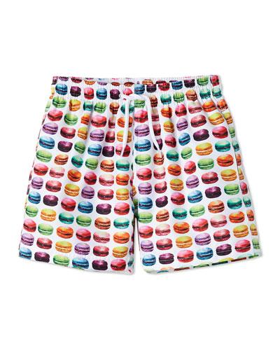 Boys' Macaron Swim Trunks, 12M-10