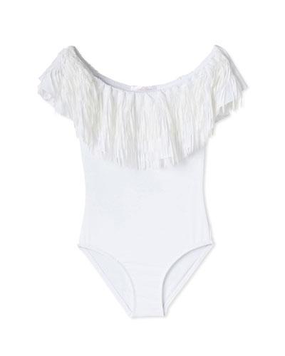Girls' Fringe One-Piece Swimsuit, 2-12