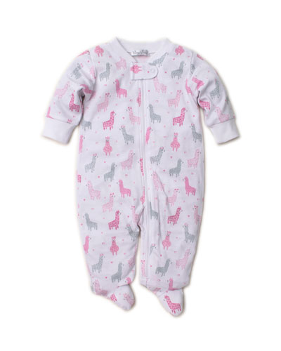 Wooly Llamas Pima Zip-Front Footie Playsuit, Size Newborn-9 Months