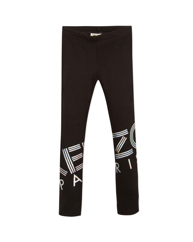 Kenzo Pants IRIDESCENT LOGO PRINT LEGGINGS