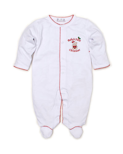 Baby's First Christmas Pima Footie Playsuit, Size Newborn-9 Months