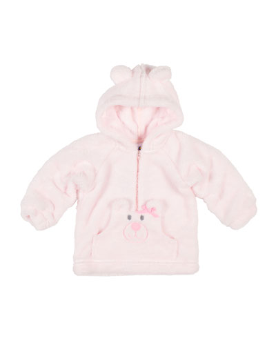 Plush Fleece Bear Hoodie, Size 3-12 Months
