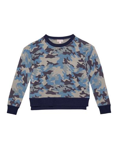 Girl's Camo Sweater, Size S-XL