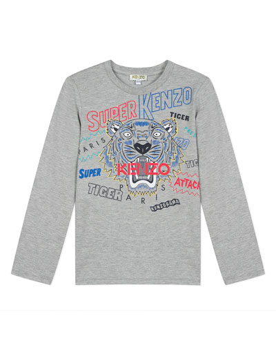 Super Heroes Tiger Tee, Size 8-12