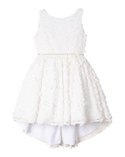 Flower Lace High-Low Dress, Size 7-16