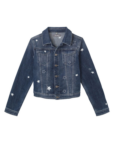 ccac3f3f4 Girl's Manning Star Embroidered Denim Jacket, Size S-L