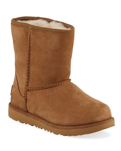 Classic Short II Suede Boots, Kids