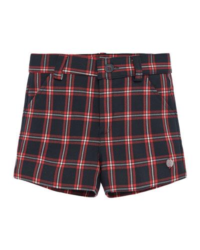Boy's Check Shorts, Size 2-4