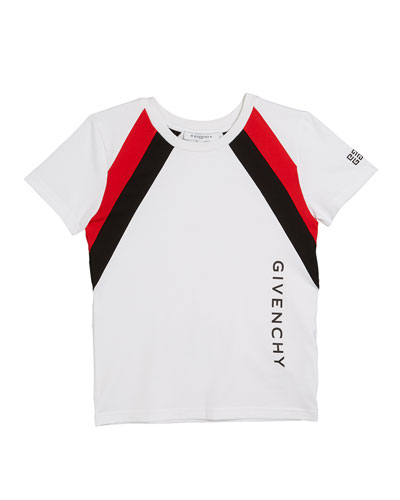 Boy's Colorblock Logo Tee, Size 4-10