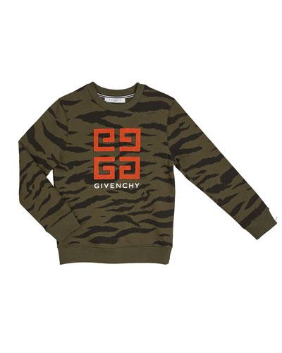 Boy's 4-G Logo Camo Sweatshirt, Size 12-14