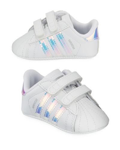 Superstar Iridescent Trim Crib Sneakers, Baby