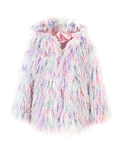 Faux Fur Hooded Coat, Size XXS-L
