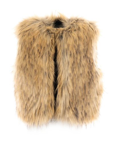Kid's Fashion Faux Fur Vest, Size XXS-L