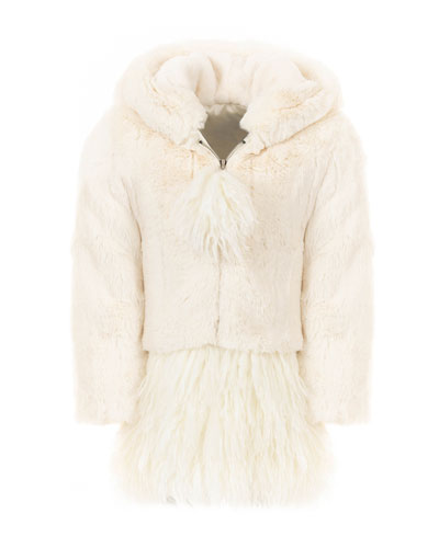 Kid's Luxe Faux-Fur Coat, Size XXS-L